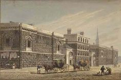 A Regency character accused of a crime could be thrown into Newgate, a cramped and unpleasant prison in the City of London. London History, British History, Old London, London City, York Street, Regency Era, 18th Century, Crime, Old Things