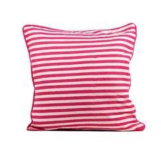 "Stripe Pillow 18"" Fuchsia, $26, now featured on Fab."