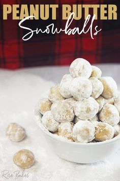Peanut Butter Snowballs.  These peanut butter balls are easy to make,  rolled in powdered sugar and uniquely have the extra added texture of graham crackers in the dough!  They're also fun to make with kids! #peanutbutter #snowballs #candy #christmas #christmascandy  #grahamcrackers #powderedsugar