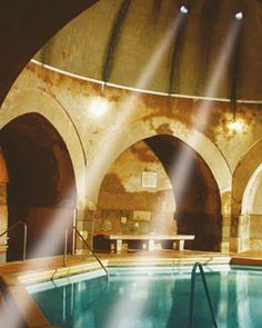 Kiraly Bath in Budapest.  Built in the 16th century, and just one of Mandy and my european spa excursions!
