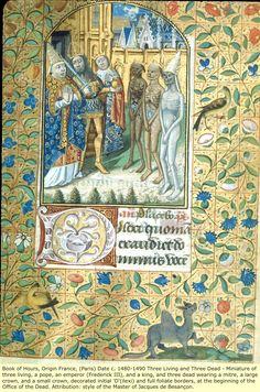 Livre d' heure à l'usage de Rome Rome - Les 3 morts et les 3 vifs - Paris  c.1480 - 90
