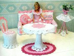 вязаная мебель для кукол Барби - Поиск в Google