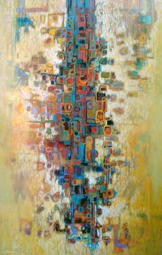 """Dale Witherow, artist, """"Tree Of Life"""", Painting"""