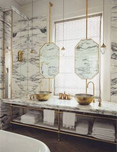 REALLY interesting mirrors! best faucets marble jack and jill bathroom