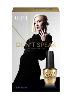 OPI - Limited Edition Don't Speak Pure 18K Gold Top Coat