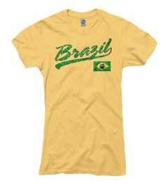 Team Brazil Heathered Yellow Women's T-Shirt