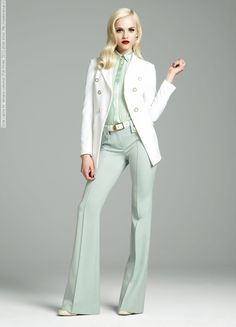 Ginta Lapina for Versace collection (Fall-Winter 2012)
