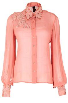 Sailex - pretty embroidered collar shirt