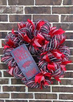 A personal favorite from my Etsy shop https://www.etsy.com/listing/461724902/university-of-arkansas-wreath