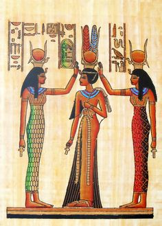 Coronation of Queen Nefertiti – Poster x 10 inches – Unframed Coronation of Queen Nefertiti (Reprint From an Egyptian Painting) (Reprint on… Ancient Egypt Pyramids, Ancient Egypt Art, Ancient History, European History, Ancient Artifacts, Ancient Aliens, Ancient Greece, American History, Egypt Civilization
