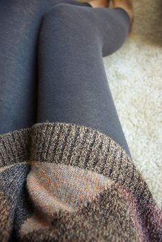Leggings, and oversized sweater. <3