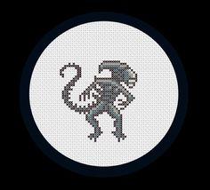 Alien PDF cross stitch pattern by RobotSoon on Etsy, $3.00