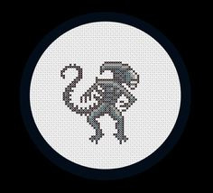 Alien PDF cross stitch pattern by RobotSoon on Etsy, $3.00. Adorable and creepy at the same time! Way cool!