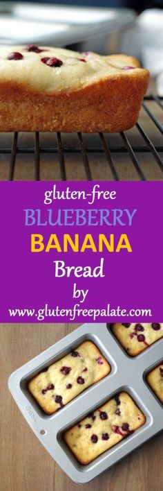Yummy, gluten-free blueberry banana bread. This bread is moist and cake like. Serve it for breakfast, snack or as a dessert. Either way, It's nutritious and inviting.