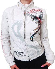 Ed Hardy jacket 058-060687 White http://amzn.to/2hYa6zl