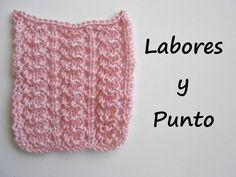 Aprende a tejer este punto fantasia 4 en dos agujas Knitting Help, Knitting Stiches, Knitting Videos, Baby Knitting Patterns, Loom Knitting, Crochet Patterns, Knit Crochet, Crochet Hats, Stitch 2