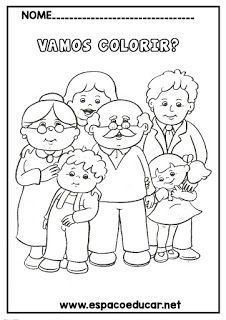 20 DESENHOS DO DIA DA VOVÓ OU DIA DOS AVÓS PARA COLORIR, PINTAR, IMPRIMIR! Family Coloring Pages, Coloring For Kids, Colouring Pages, Coloring Books, Preschool Lessons, Preschool Worksheets, Preschool Activities, Preschool Family Theme, Family Crafts