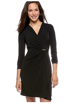 1c069d9dea3 MICHAEL Michael Kors Long Sleeve Wrap Dress  jockey