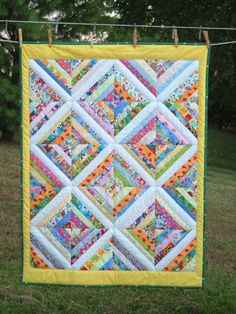 Colorful Crib String Quilt