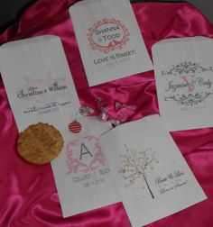 Wedding Candy Bar Candy Buffet Favor Bags by wreathartist on Etsy, $30.00