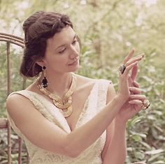 #UnionLoveTale Act 1.3. A moment of reflection. Featuring Lara Bohinc Eclipse necklace and Mawi cocktail ring. #Wedding #Bridal #Statementjewellery