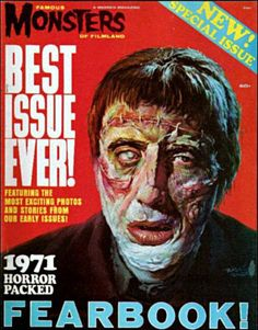 "Famous Monsters of Filmland - 1971 Yearbook - ""The Curse of Frankenstein"""