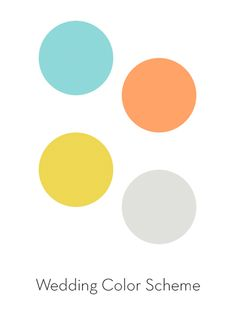 I'm not really thinking about a wedding right now, but these colors go great together! The blue with the warm yellow and orange is so pretty.