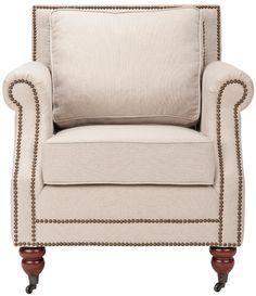Safavieh Karsen Club Chair W/ Brass Nail Heads,