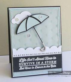 card MFT umbrella clouds Blueprint 14 border - Dance in the Rain