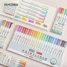 Korean Stationery, Kawaii Stationery, Back To School Stationery, Bookmarks, Bullet Journal, Notes, Study, How To Plan, Pens