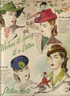 Stetson Hats for Ladies;  1930 - 1950