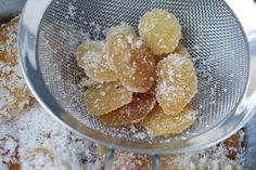How to Make Candied Ginger, a free recipe from pastry chef & cookbook author David Lebovitz, from his cookbook Ready for Dessert. Chutney, Chef Cookbook, Ginger Syrup, Cooking Recipes, Healthy Recipes, Homemade Candies, Fresh Ginger, Ginger Tea, Candy Recipes