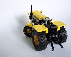 tractor made of Legos Lego Tractor, Lego Truck, Lego Machines, Lego Army, Lego Activities, Lego Vehicles, Lego Mechs, Lego Trains, Toys