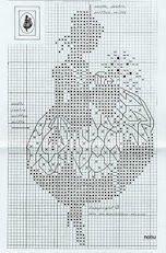 Lady silhouette free cross stitch pattern