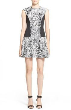 Free shipping and returns on Ted Baker London 'Graice' Snake Print Contrast Panel Shift Dress at Nordstrom.com. Solid black insets visually slim the figure on a playful stretch-woven shift dress covered in a slithery serpentine print.