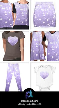 Ultra violet purple sparkly bokeh chiffon top, mini skirt, a-line & graphic t-shirt dress, shirt, leggings, apparel and more by #PLdesign #style #fashion #apparel @redbubble