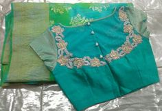 Boat Neck Blouse Designs With Front Button interested personss can read this article for getting the information about the latest trend of blouse. Saree Blouse Neck Designs, Stylish Blouse Design, Choli Designs, Fancy Blouse Designs, Blouse Patterns, Boat Neck Saree Blouse, Saree Dress, Women's Fashion, Indian Fashion