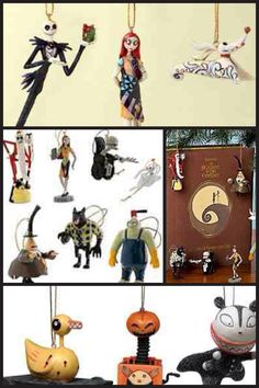 Nightmare before Christmas ornaments !!!!!  I MUST HAVE THESE for our tree !   Or maybe a special mini tree !   :O