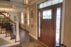 Formal foyer entrances are still very popular.