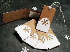 Vánoční jmenovky - sada - Padá padá bílý sníh