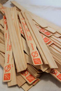 home depot diy christmas projects | Home Depot paint stir sticks. Source: montydob.blogspot.com