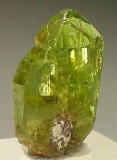 Peridot (gem quality Forsterite)  St John's Island, Egypt, Africa, 2 x 1.1 x 0.6 cm