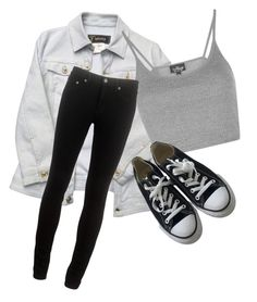 """""""Untitled #488"""" by zeniboo ❤ liked on Polyvore featuring Versace, Topshop, rag & bone and Converse"""