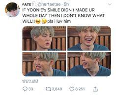 of course his smile is precious 😍😍 Bts Namjoon, Min Yoongi Bts, Min Suga, Jimin, Hoseok, Taehyung, Jung Kook Bts, Bts Love, Min Yoonji