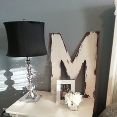 "24"" Large wooden shabby chic vintage distressed Letter by Lavish Olive Studios"