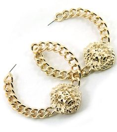 Lion hoop earrings.  An #ADPi can never have enough Alphie inspired jewelry...