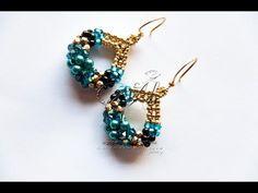 Twist stitch earrings with twin beads - tutorial Seed Bead Jewelry, Seed Bead Earrings, Diy Earrings, Beaded Necklace, Beaded Earrings Patterns, Earring Tutorial, Beads Tutorial, Embroidery Jewelry, Beautiful Earrings
