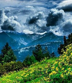 Awesome view of the Siri Paye meadows, Shogran, Swat valley Khyber Pakhtunkhawa Pakistan