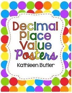 Decimal Place Value Posters are a great reference for your students!