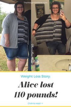 Alice Lost 110 Pounds with PCOS  - read more PCOS weightloss before and after diet success stories @ TheWeighWeWere.com